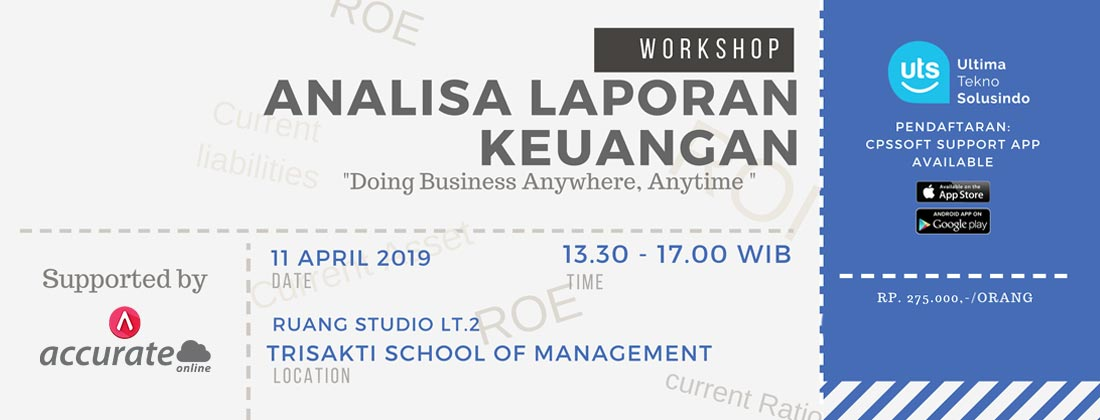 workshop analisa laporan keuangan