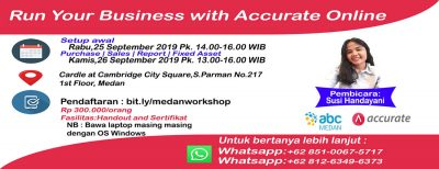 Workshop Accurate Online Medan
