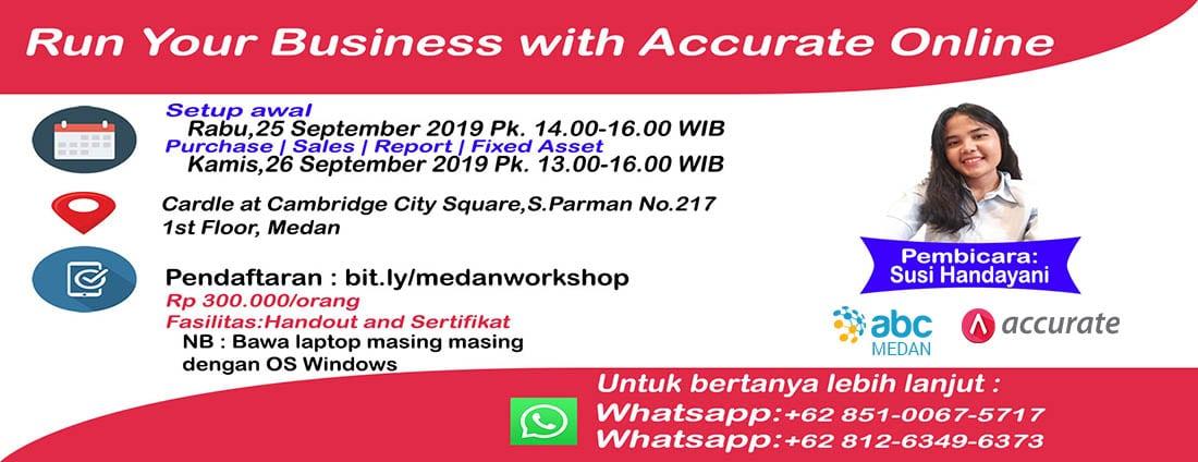 Workshop Accurate Online Medan